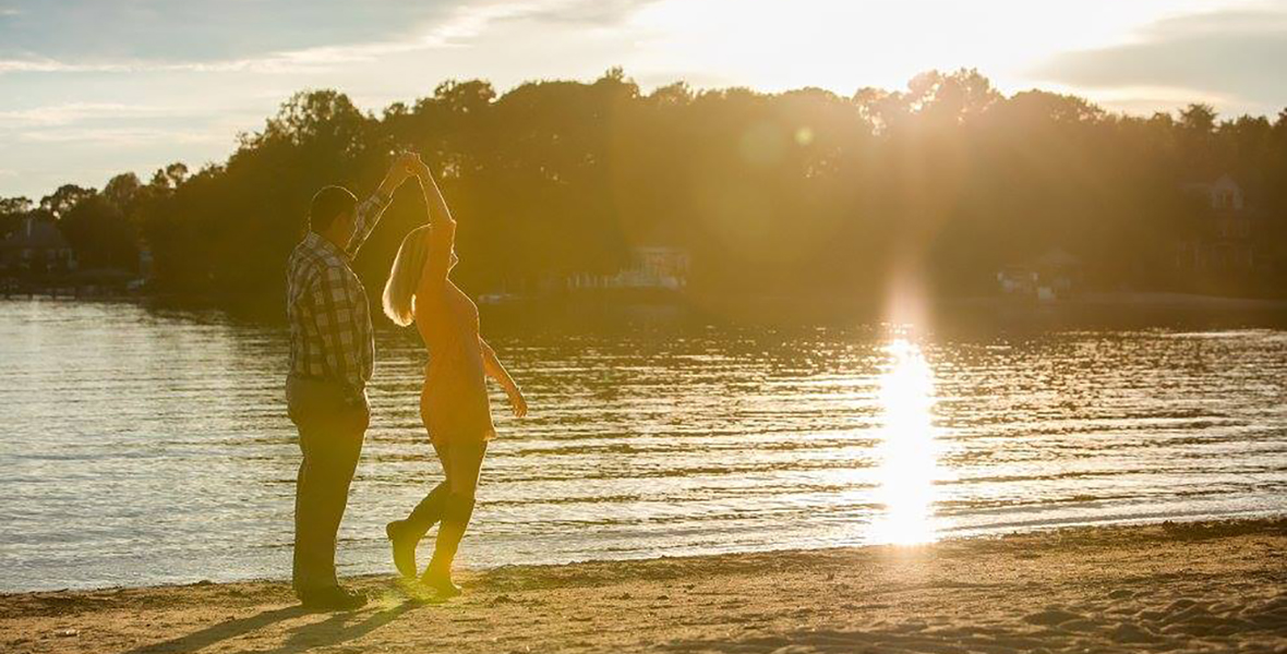 Jetton Park Lake Norman Engagement Shoot