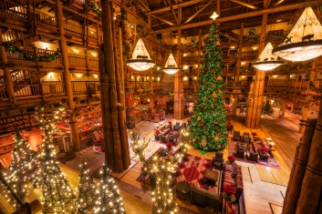 Disney's Wilderness Lodge at Christmas