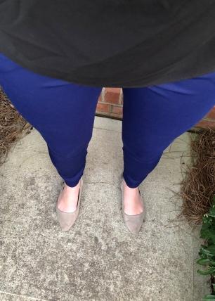 Jaelyn Skinny Trouser in Blue