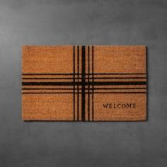 Plaid Coir Doormat