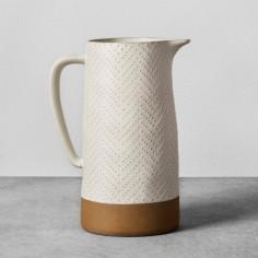 Textured Stoneware Pitcher