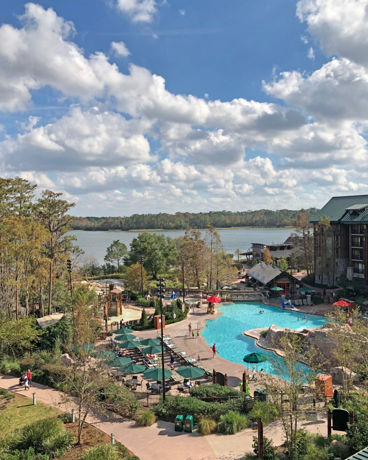 View from Sixth Floor Room of Disney's Wilderness Lodge