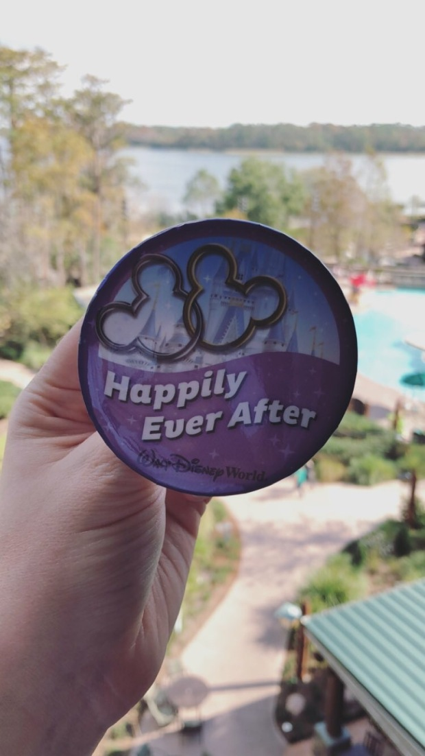 Happily Ever After Button at Disney World