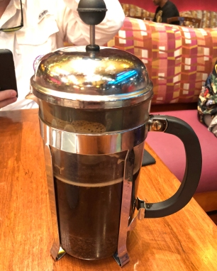 Press Pot at Kona Cafe