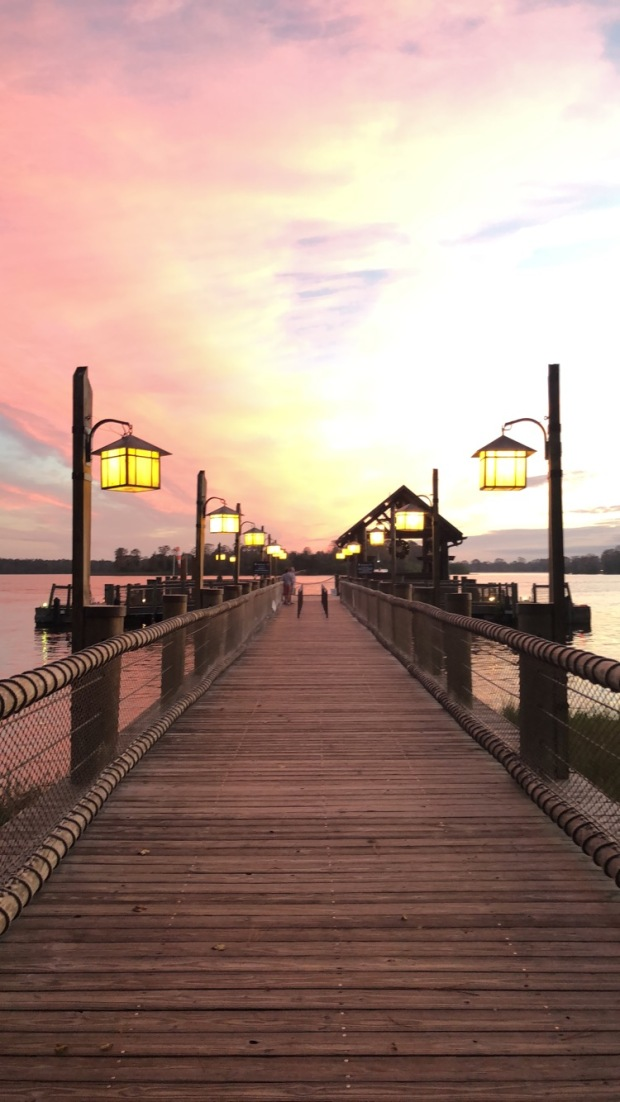 Sunrise at Disney's Wilderness Lodge