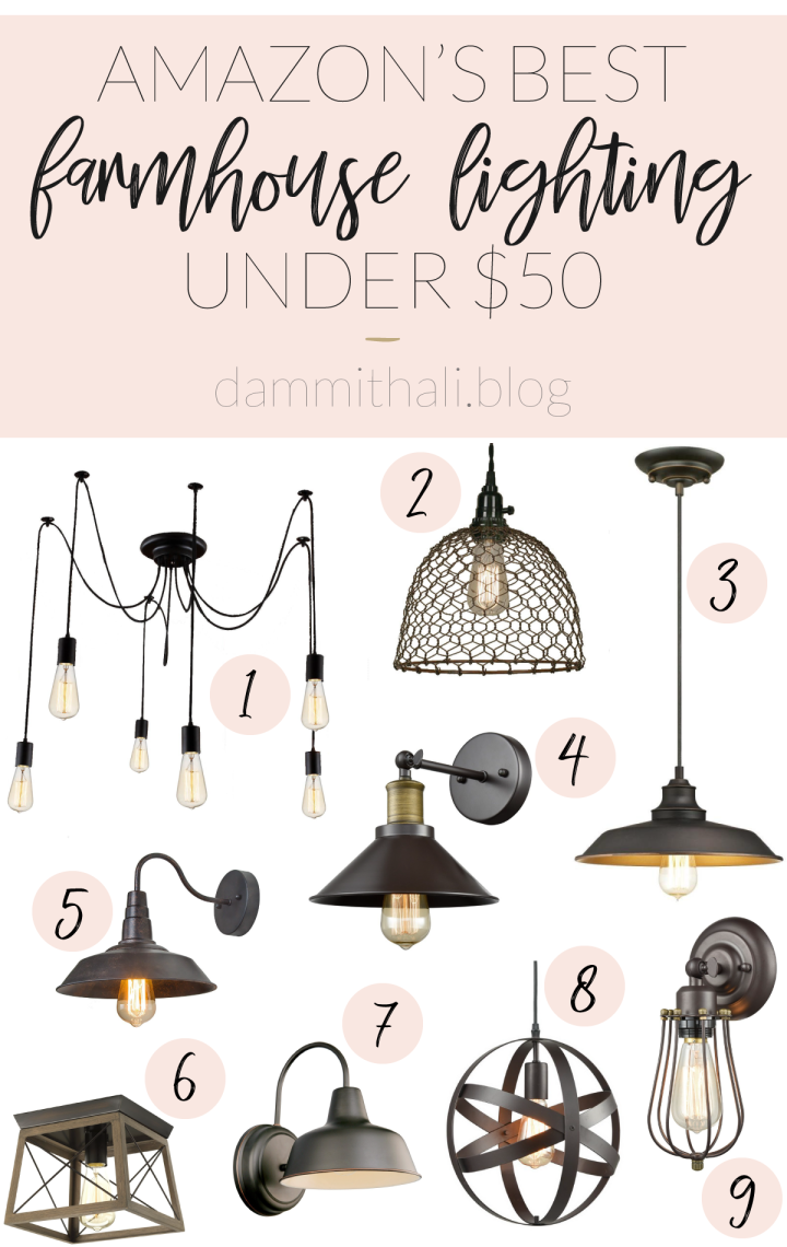Amazon's Best Farmhouse Lighting Under $50