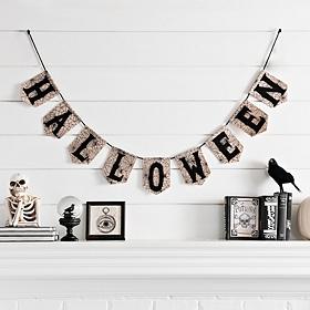 Cobweb Halloween Banner