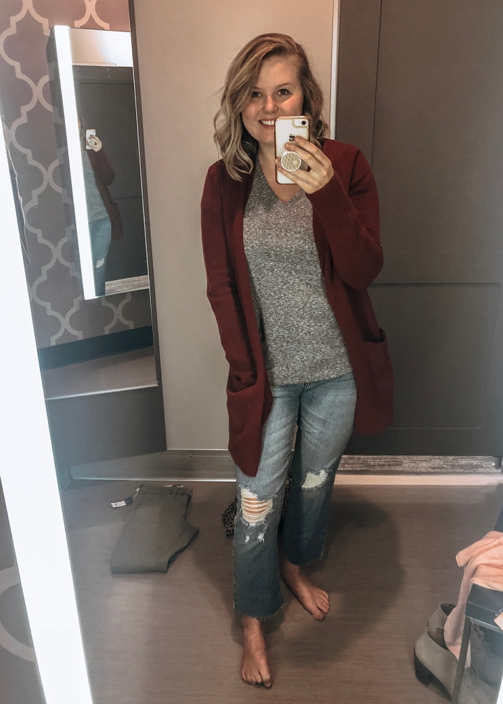 Target Try-On /// Sweaters and Denim Sale