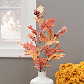 Orange Oak Leaf Stem