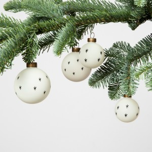 Black and White Ornament Set