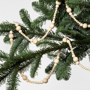 WOODEN BEAD TREE GARLAND
