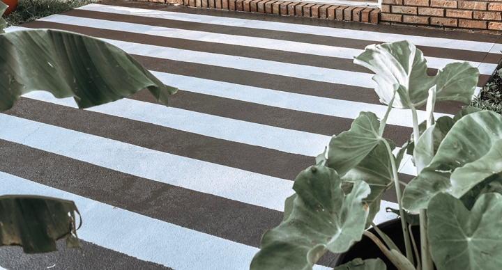 How I Painted Our Concrete Patio Using Valspar Porch, Floor & Patio OilPaint